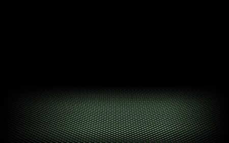 abstract dynamic dots green background on black photo