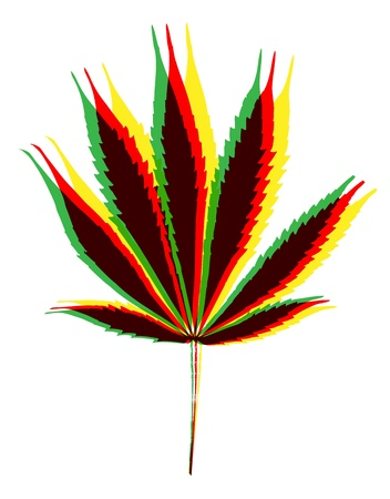 marihuana leaf on white background photo
