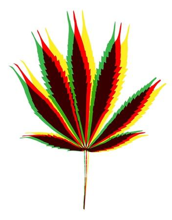 marihuana leaf on white background