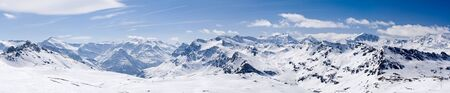 Mountain Ski resort Tignes  France Stock Photo