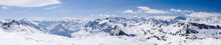 Mountain Ski resort Tignes  France Stock Photo