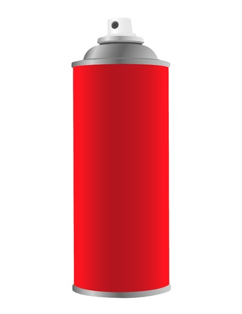 Spray tin on white background photo