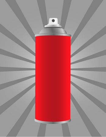 Spray tin on stripes background photo