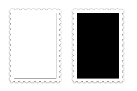 POSTAGE STAMP template on white background