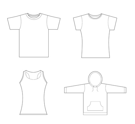 men-girls t-shirt, sweatshirt template photo