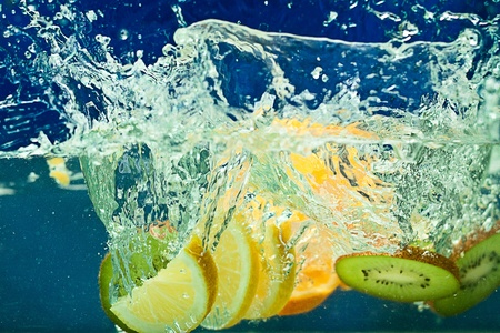 fresh fruit in the water Stock Photo - 13456689
