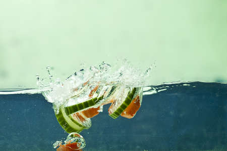 Fresh vegetable in the water photo