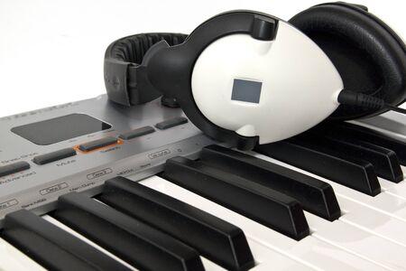 Midi keyboard close up, Piano roll photo