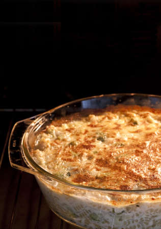 baked pasta with broccoli and cheese photo