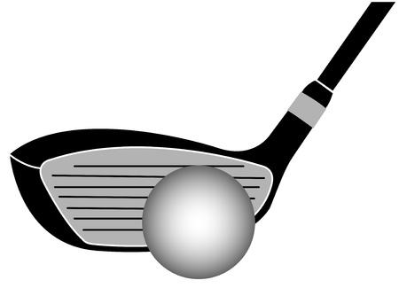 sand trap: Golf Club Iron Vector Illustration