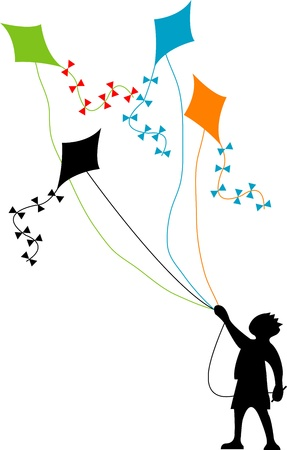 idealized: Kite boy  Stock Photo
