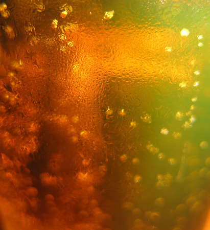 Abstract beer texture with bubbles photo