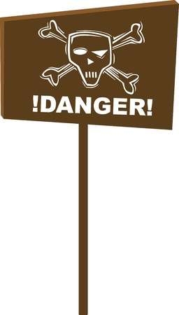 sign with skull and cross-bones photo