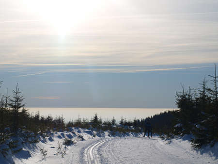Winter panorama of Krkonose mountains, Czech Republic Stock Photo - 13456968
