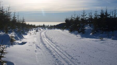 Winter panorama of Krkonose mountains, Czech Republic Stock Photo - 13457054