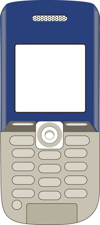 Illustration of a phone on a white background
