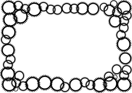 sprocket: Black sprocket on white background