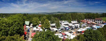 sudeten: Panorama Horice from race 300ZGH
