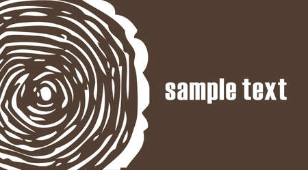 Growth ring on brown background Stock Photo - 13456761