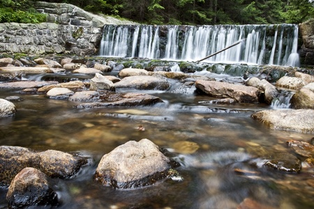 Small Upa Waterfall in Krkonose