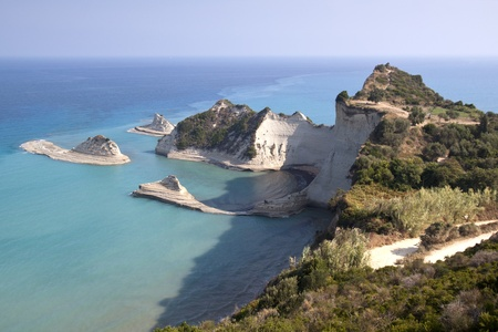 Cape Drastis at Corfu island in Greece  photo