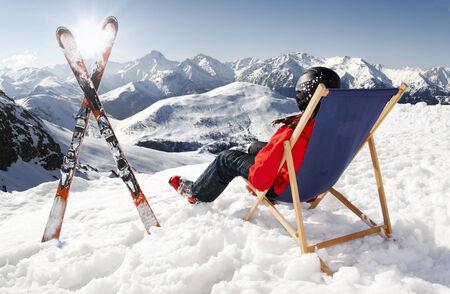 czech women: Women at mountains in winter, Czech high mountains