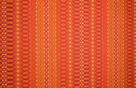 rote: Orang rote alte Tapete aus Omas Zeiten  Stock Photo