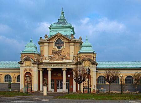 Praha, Česká republika - 15 března 2015 Lapidárium Národního muzea v Praze, fotografoval při procházce Prahou.