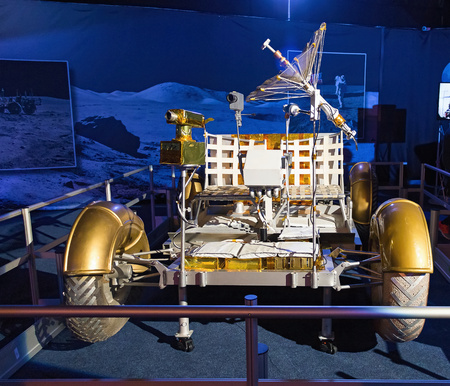 Prague, Czech Republic - March 15, 2015, Lunar Rover. World Tour - Gateway to the universe - exhibition in Prague. NASA  Apollo space program.