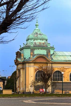 Prague, Czech Republic - March 15, 2015 Lapidary of the National Museum in Prague, photographed during a walk through Prague. Redakční