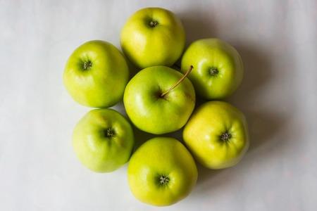 Fresh green apples Reklamní fotografie