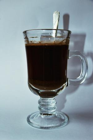 káva ve skle