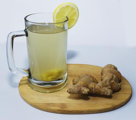 ginger tea white background Reklamní fotografie