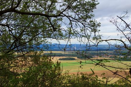 Pohled z hory Říp Reklamní fotografie