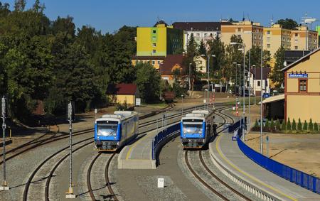 vlakové nádraží Jablonec nad Nisou Pohled z mostu