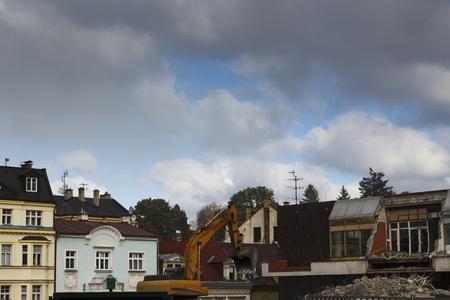 demolition of the shopping center Reklamní fotografie