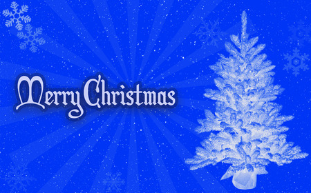 veselé vánoce modré pozadí