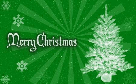 Veselé Vánoce zeleném pozadí