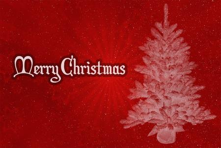 Veselé Vánoce červeném pozadí Reklamní fotografie
