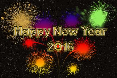 Šťastný Nový Rok zlaté fonty