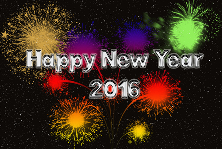 happy new year silver fonts