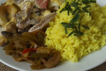 pečené kuře s rýží detailu
