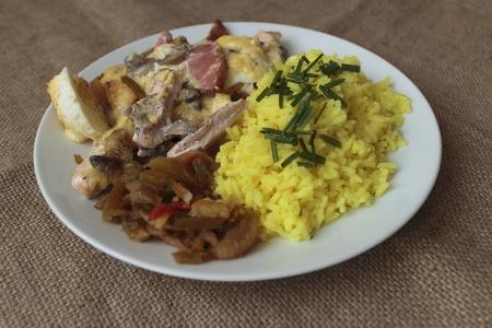 baked chicken with rice Reklamní fotografie - 51349867