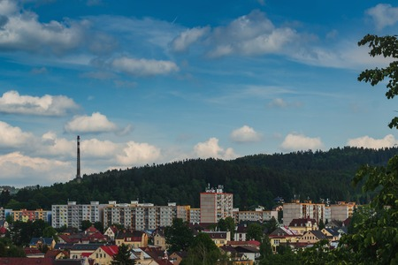 Remote view of the municipal area of Paseky, Jablonec nad Nisou, Czech Republic