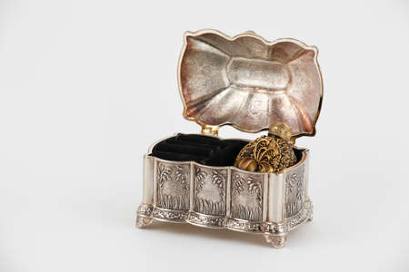 coffins: Bottle of perfume in the casket