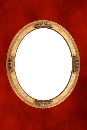 Isolated inside gold frame photo