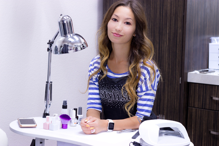 Beautician at work - stock photo