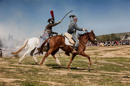 blunderbuss: Bandit in the commemoration of the battle of Bailen, Jaen province, Andalusia, Spain, Take on October 8, 2011