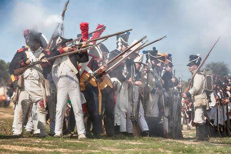 Representation of the Battle of Bailen, Bailen,  Jaen province, Andalusia, Spain Editorial