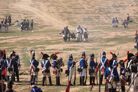 allies: Allies help French troops take a cannon on the battlefield in Representation of the Battle of Bailen of 1808, Bailen,  Jaen province, Andalusia, Spain Editorial